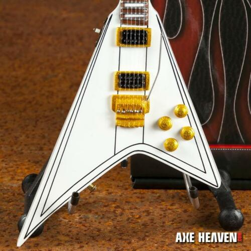 Randy-Rhoads-Signature-White-Flying-V-Miniature-Guitar-Replica-Collectible