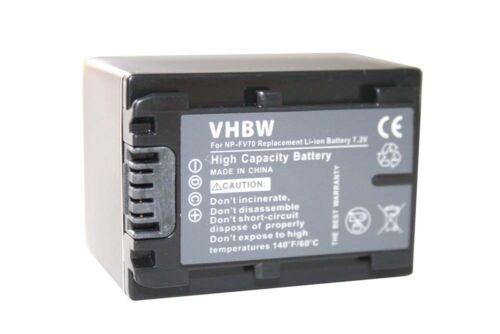 Acu batería cámara de vídeo info chip para Sony handycam hdr-cx210e np-fv70