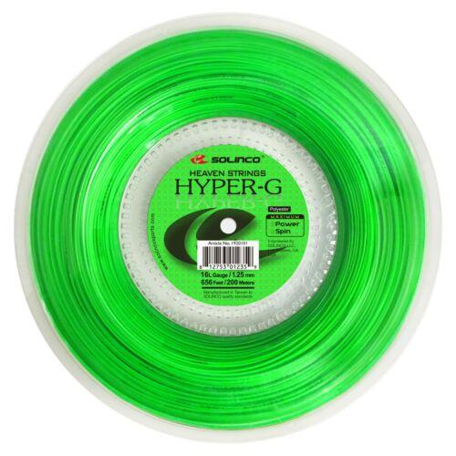 Solinco Hyper G 1.25mm 16L Gauge 200m 656ft Tennis String Reel