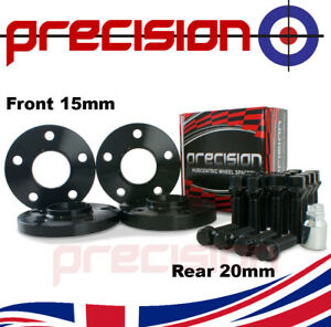 Black-Staggered-Spacers-15mm-20mm-with-Bolts-Nuts-and-Locks-for-BMW-5-Series-G30