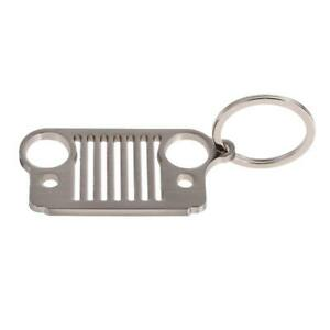 1Pcs-Stainless-Steel-Jeep-Grill-Key-Chain-KeyChain-KeyRing-CJ-JK-TJ-YJ-XJ
