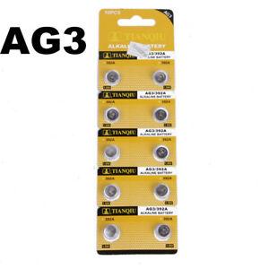 10PCS-1-5V-AG3-LR41-392-SR41-192-Alkaline-Button-Coin-Cells-Watch-Battery-Sturdy