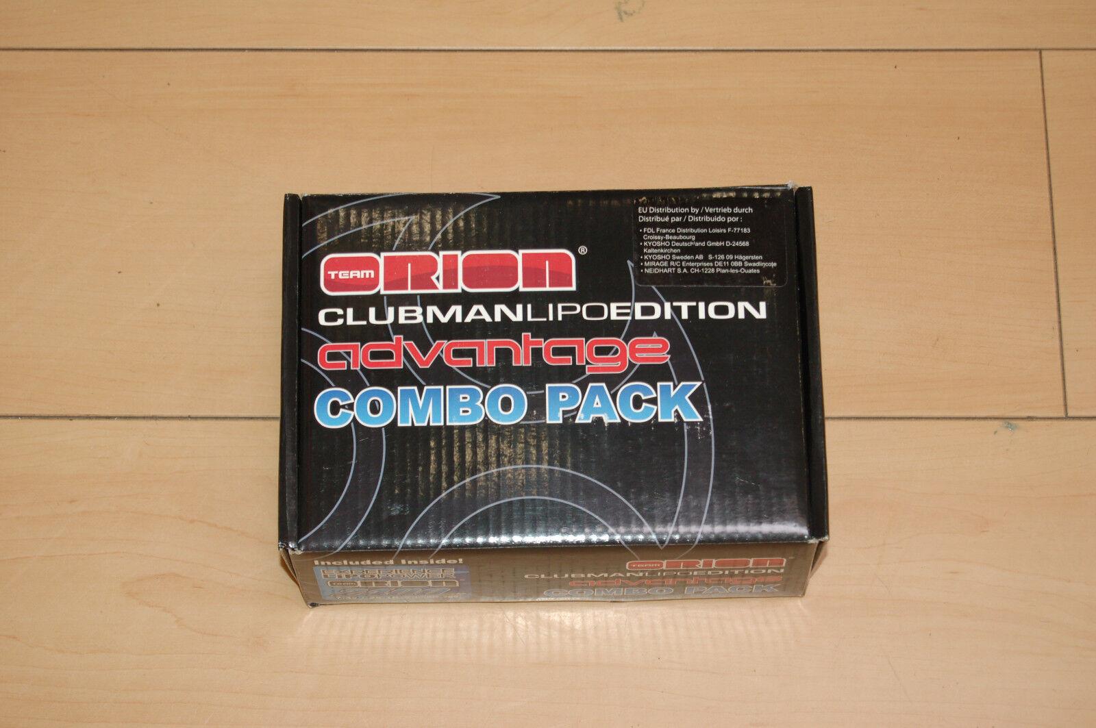 Team Orion ori30124 combo pack lipo 2400mah 7,4v +, estación de carga, nuevo embalaje original &