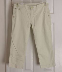 3570678989626 Hf6269 Classic Stretch Pantaloni Taglia Us Donna Lacoste Cropped Regular Capri Fit UwwqpOP