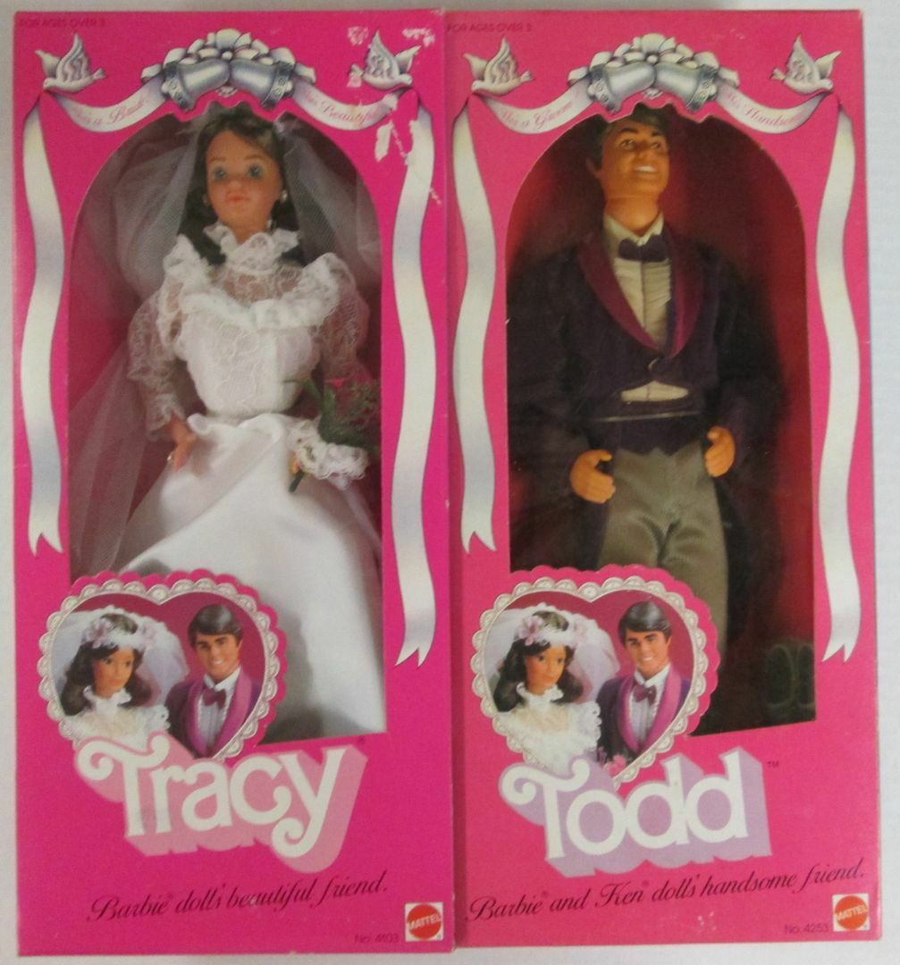 1982 Tracy She's a Bride  and Todd He's a Groom  Dolls (Friends of Barbie and ..