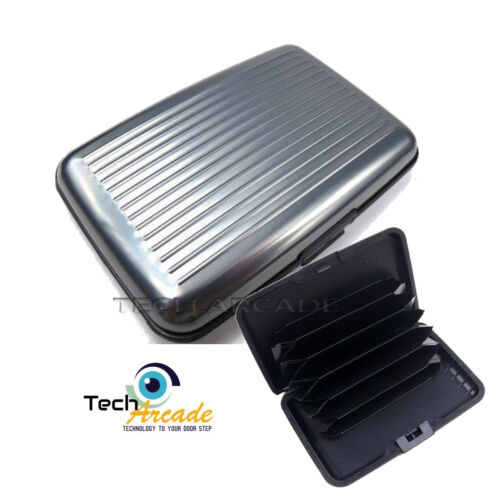 RFID Scan Protected Aluminium Credit Card Holder Security Wallet Bank Hard Case