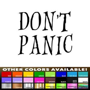 Dont Panic Symbol Auto Car Truck Window Track Pad Laptop Vinyl