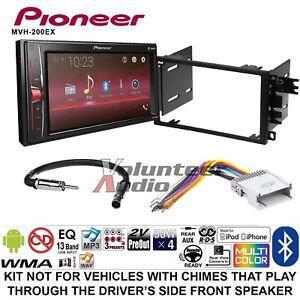 pioneer mvh 200ex double din car stereo radio install kit. Black Bedroom Furniture Sets. Home Design Ideas