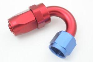 AN4 4AN AN-4 120 Degree Swivel Hose End Fitting Adaptor Aluminum Red//Blue