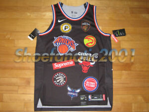 competitive price 8afb4 3d20f Details about Supreme Nike NBA Basketball Teams Authentic Jersey Box Logo  JR Smith L Aerofit