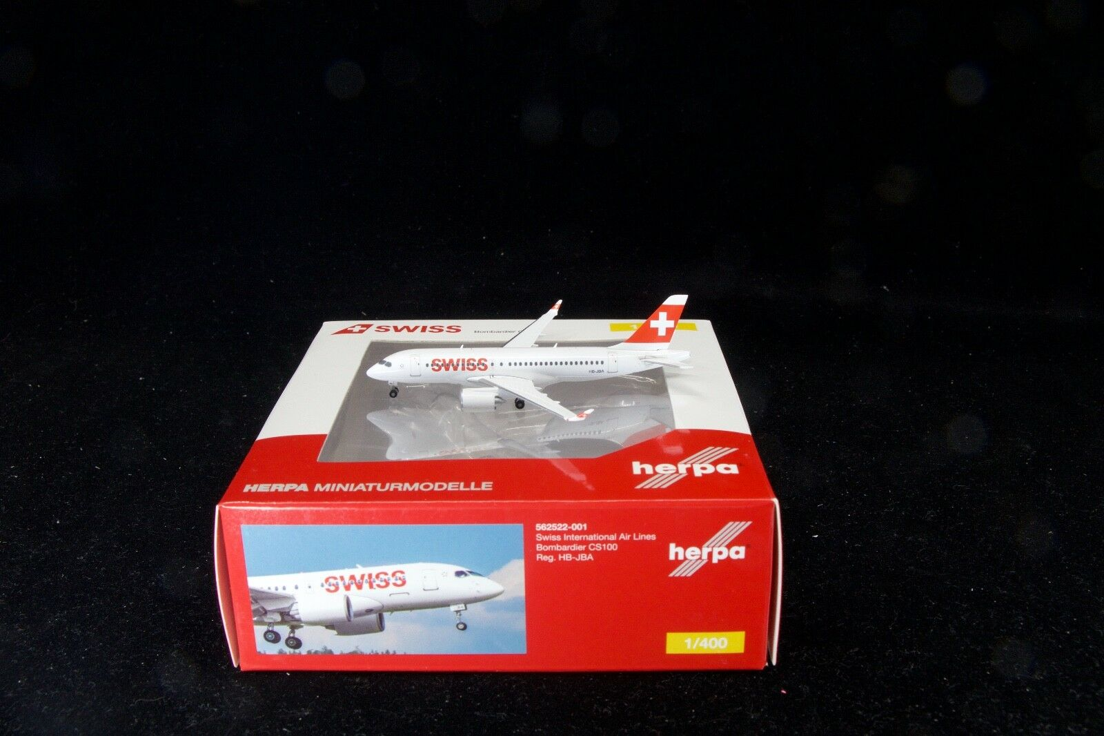 Herpa Wings 1 400 Bombardier CS100 Swiss International Airlines HB-JBA