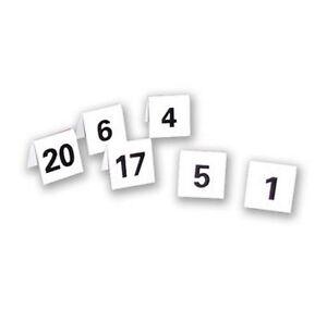 Détails Sur Mariage événement Tente De Fête Table Numéro Plastique Place Carte Cartes 1 25 Double Face Afficher Le Titre Dorigine