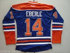 size 40 078b0 9b526 Details about Edmonton Oilers Blue #14 JORDAN EBERLE Women's NHL Reebok  Hockey Jersey NEW