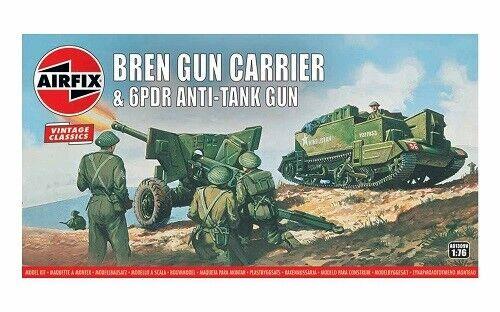 Neu 1//76 Bren Gun Carrier/& 6 pdr AT Gun,Vintage Classics Airfix A01309V