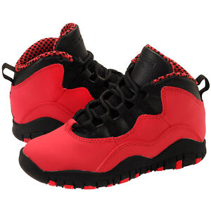 the best attitude b4ffc 42859 Details about Jordan 10 Retro (PS) Fusion Red/Black 487212 605 Size 1y