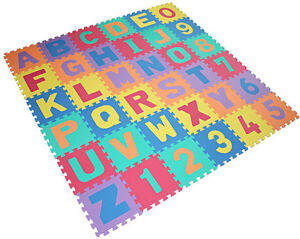 36pcs-ALPHABET-NUMBER-PLAY-MAT-TODDLERS-CHILDREN-SOFT-FOAM-JIGSAW-PUZZLE-A-Z
