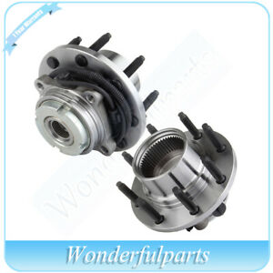 For-1999-2004-Ford-F-250-F-350-2-Front-Wheel-Bearing-amp-Hub-Assy-ABS-4x4-SRW