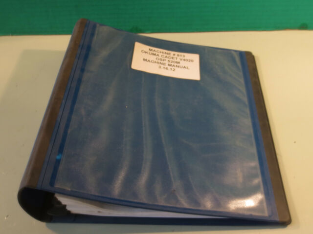 OKUMA CADET V4020 OSP 5020M MACHINE #813 PARTS BOOK MANUAL