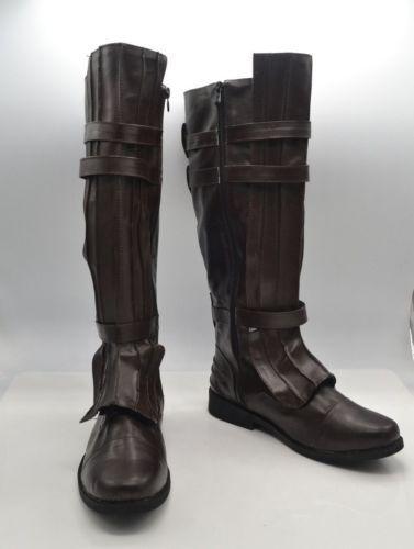 Darth Vader Anakin Skywalker Cosplay Shoes Brown boots custom made KJ