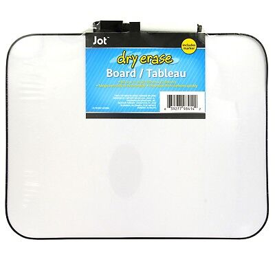 Jot Mini Dry Erase Boards Magnetic with Eraser-Topped Markers White 8.5 X 11 In.