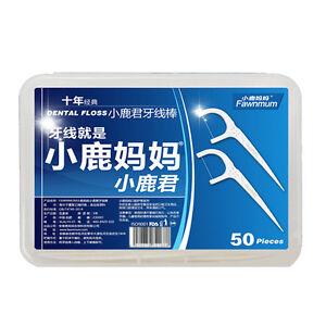 NEW-50Pcs-Oral-Gum-Dental-Teeth-Stick-Clean-Care-Floss-Picks-Interdental-Brus-DD
