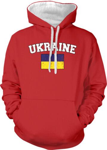 Ukraine Country Flag Ukranian Pride Football Soccer 2-tone Hoodie Pullover