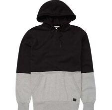 2016 NWT MENS BILLABONG ASHLAND PULLOVER HOODIE $60 L black grey colorblock