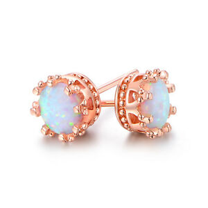 Fire-Opal-Crown-Stud-Earrings-in-18K-Rose-Gold