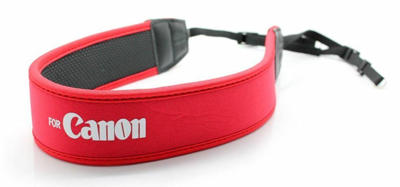 Weight Reducing Neoprene Anti-Slip Shoulder Strap - Red w/Can0n Logo - UK STOCK