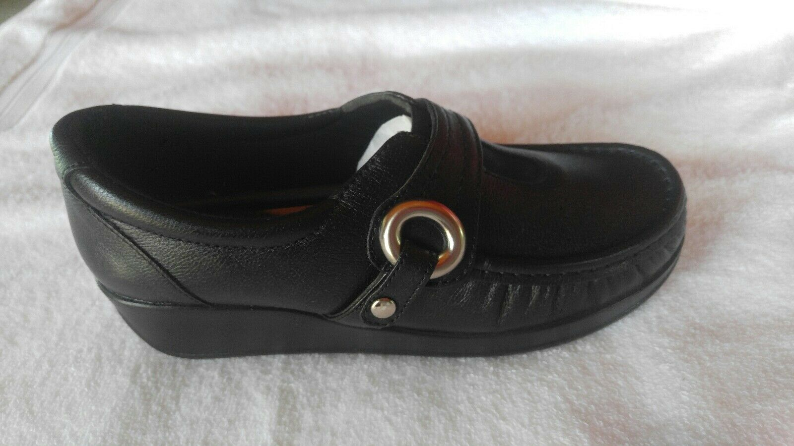 Women shoes Black Flat Loafer Size 7 Comfort by Andrea Collections 2017
