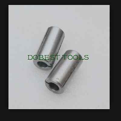 """2pcs power collet chuck adapter for tools bits cnc router parts 12mm to 1/4"""""""