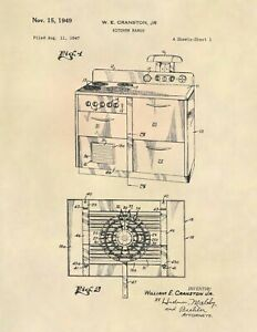 Vintage-Kitchen-Range-US-Patent-Art-Print-Antique-Vintage-Kitchen-771