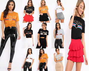 f5b054a0 Image is loading Women-Celeb-Designer-Inspired-Casual-Tops-Guilty-Queen-