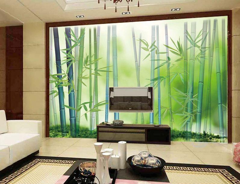 3D Sehnsucht nach der bambus Fototapeten Wandbild Fototapete BildTapete Familie