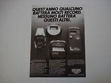 advertising Pubblicità 1981 HEUER MICROSPLIT 231 e 221
