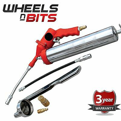AIR PNEUMATIC GREASE GUN KIT PISTOL GRIP 1200 TO 6000 PSI 500CC MANUAL LEVER