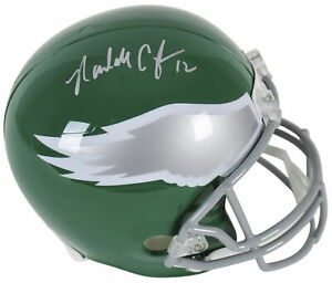Eagles Randall Cunningham Authentic Signed Full Size Rep Helmet BAS Witnessed