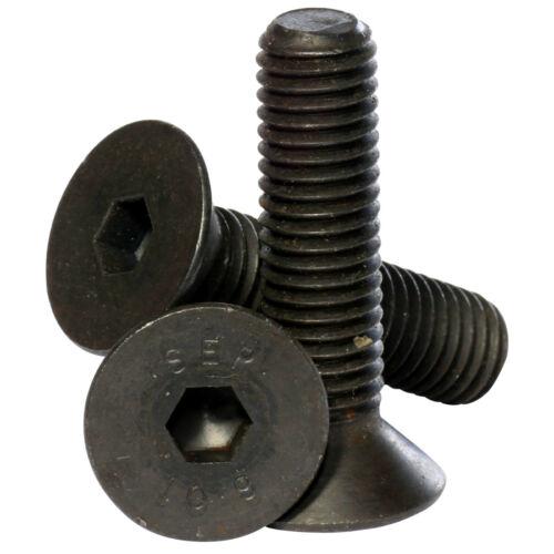 M2 M2.5 M3 M4 alta resistencia a la tracción de 10.9 Socket Tornillos de Cabeza Avellanada PERNOS De Color Negro Auto