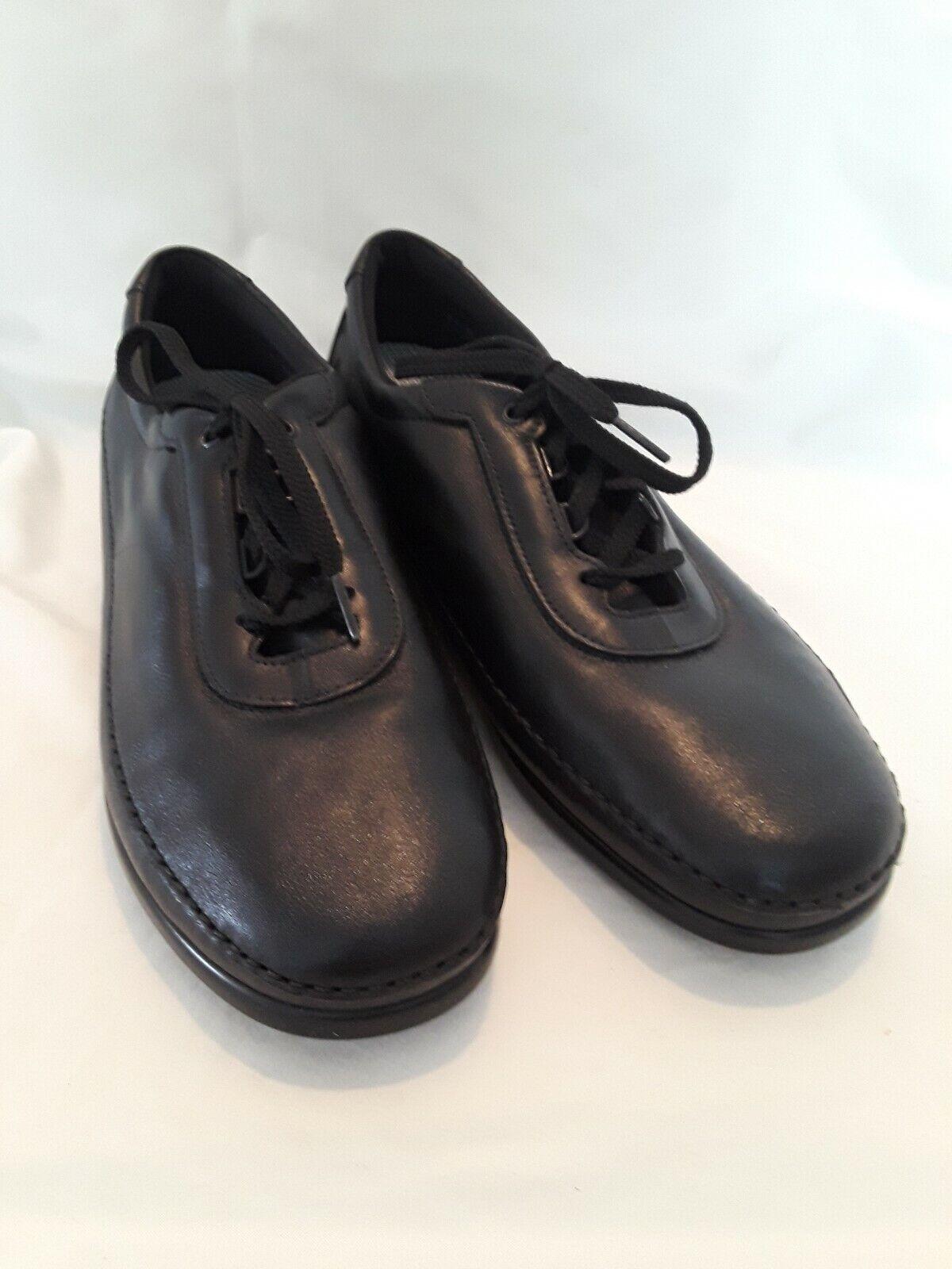SAS Traveler Black Womens Lace Up Tripad Tripad Tripad Comfort shoes Leather Made USA 11 M fdc350