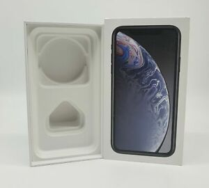 Apple-iPhone-XR-Verpackung-OVP-Leerkarton-UK-Version-Black-Schwarz-64-GB