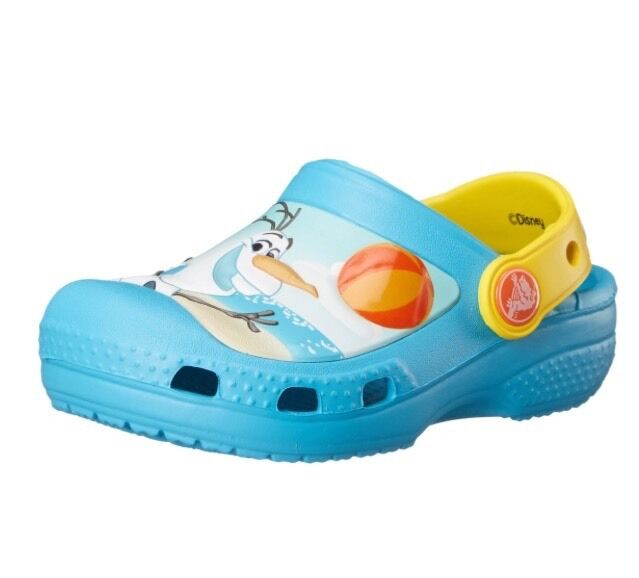 c5a4dad4e Toddler Disney Frozen Olaf Crocs Kids Shoes J1 C4 5 Electric Blue Clog 4 5  for sale online