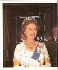 Tuvalu Nukulaelaae 1986 Queen Elizabeth 60th Birthday Souvenir Sheet MNH (SC# 67