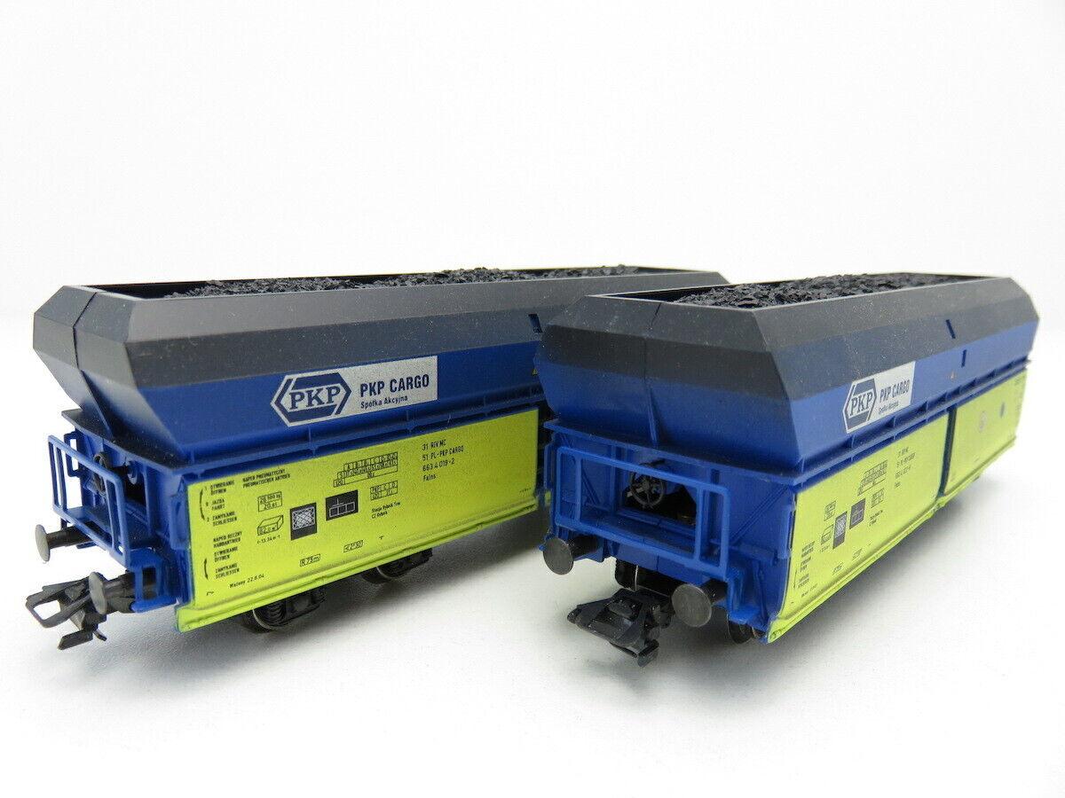 (TH898) Trix 24547 AC H0 2er-Set Selbstentladewagen PKP Cargo, EVP