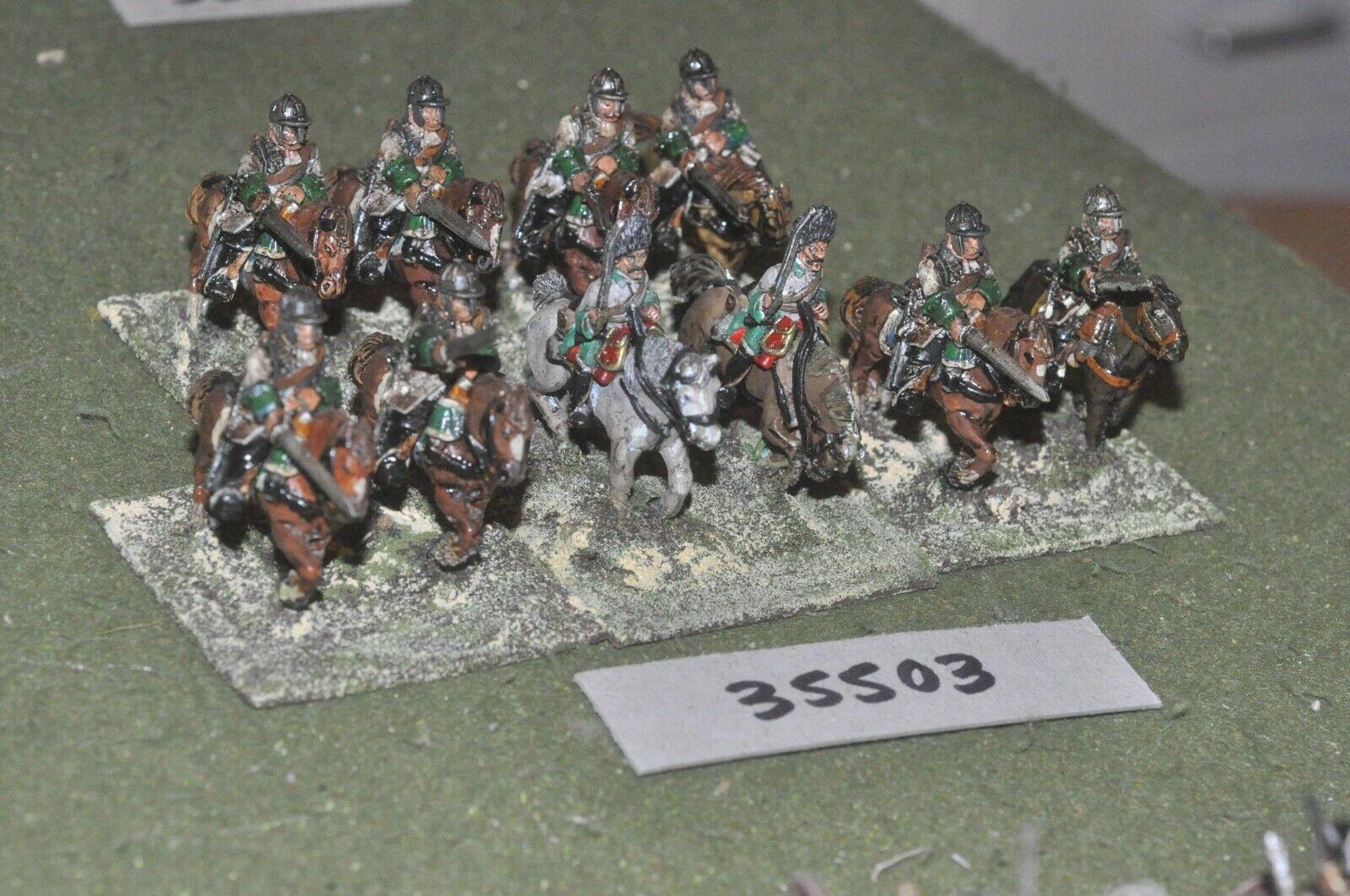25mm marlburian   austrian - cuirassiers 10 figures - cav (35503)