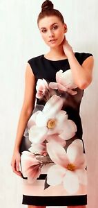 Roman-Ted-Baker-Style-Flowered-Dress-Very-Slimming-Wedding-Party-Comfort-RRP-45