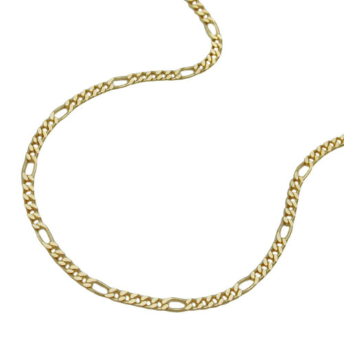 375 Gelbgold Damen Goldkette 1,6 mmHalskette Kette Figarokette 45 cm 9Kt GOLD