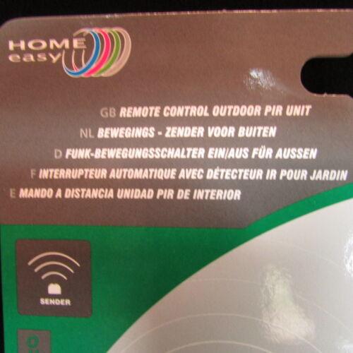 HOME EASY HE403  ELRO IP44 Funkbewegungsmelder Funkschalter Außen Funk Sender