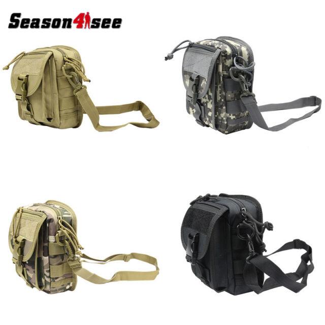 600D Men Outdoor Tactical Molle Sling Bag Single Shoulder Bag Messenger Bag