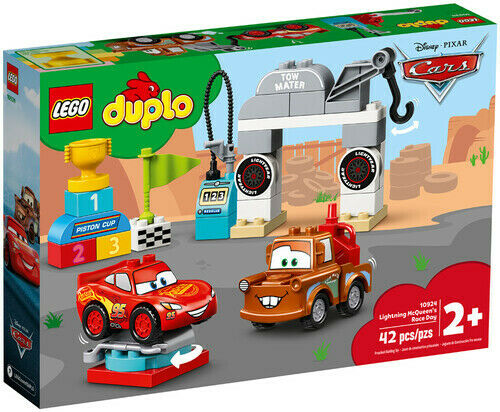 Lightning McQueen/'s Race Day 10924 LEGO® Duplo® Cars™ Brick New Toy