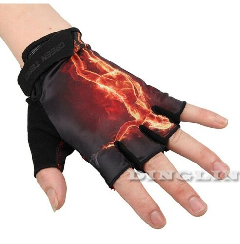 Mountain Bicycle Sport New Half Finger Bike Short Gloves Fire Cycling MTB